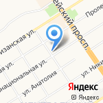 НБ Траст на карте Барнаула