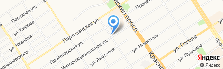 Банкомат Национальный банк ТРАСТ на карте Барнаула