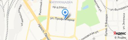 МЭГ на карте Барнаула