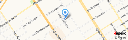 Детский сад №199 на карте Барнаула