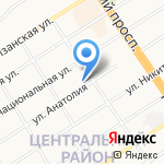 Унита на карте Барнаула