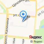 Краевой кожно-венерологический диспансер на карте Барнаула