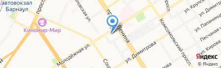 АлтГУ на карте Барнаула