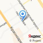 Метида на карте Барнаула
