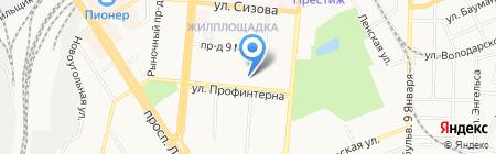 Адвокатский кабинет Липатникова Д.И. на карте Барнаула
