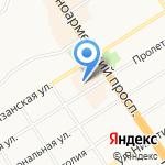 Силуэт на карте Барнаула