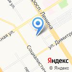 Приемная Президента РФ в Алтайском крае на карте Барнаула