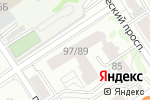 Схема проезда до компании Здоровый выбор в Барнауле