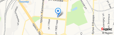 Луч на карте Барнаула