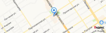 Пан Чемодан на карте Барнаула