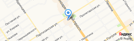 СИТИ-центр на карте Барнаула