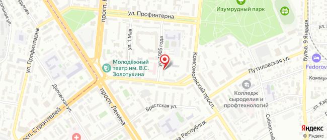 Карта расположения пункта доставки ExMail в городе Барнаул