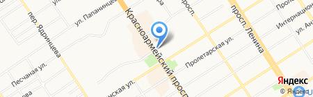 Сытный на карте Барнаула