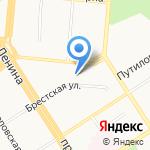 Ривьера на карте Барнаула