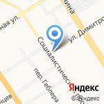 Звезда на карте Барнаула