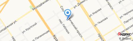 Капитан на карте Барнаула