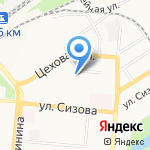 Велена на карте Барнаула