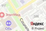 Схема проезда до компании Арт-галерея Щетининых в Барнауле