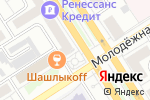 Схема проезда до компании Mon Plaisir в Барнауле