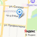 Детская городская больница №5 на карте Барнаула