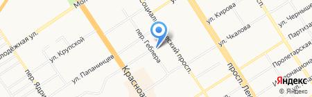 Бутик белых блуз на карте Барнаула