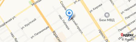 Букетная на карте Барнаула