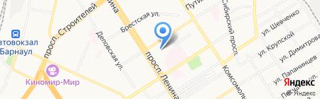 Общежитие на карте Барнаула