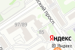 Схема проезда до компании Зефир Travel в Барнауле