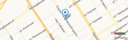 ASHERA на карте Барнаула
