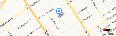 Аналитик на карте Барнаула