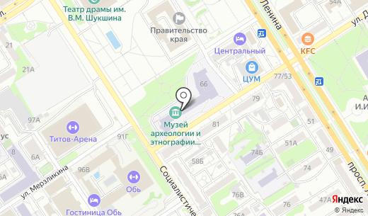 Центр социально-экономических исследований. Схема проезда в Барнауле