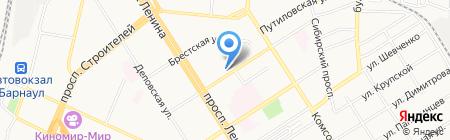 Отдел образования по Железнодорожному району на карте Барнаула