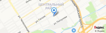 Монтажное оборудование на карте Барнаула