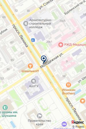 БАНК СБЕРБАНК на карте Барнаула