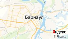 Гостиницы города Барнаул на карте