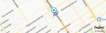 Шелковый путь на карте Барнаула