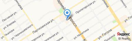 Крез на карте Барнаула