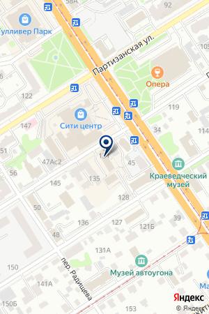 Стрит-Медиа на карте Барнаула