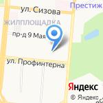 Инспекция Федеральной налоговой службы России по Октябрьскому району на карте Барнаула