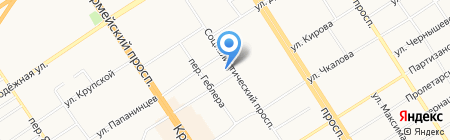 Концепт на карте Барнаула