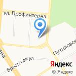 Аленушка на карте Барнаула