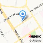 Манго-Тур на карте Барнаула