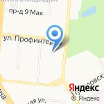 Гимназия №40 на карте Барнаула