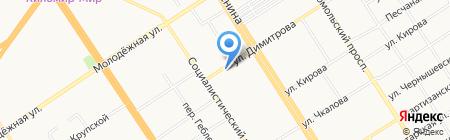 Данти на карте Барнаула