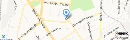 Алтайское краевое агентство воздушных сообщений на карте Барнаула