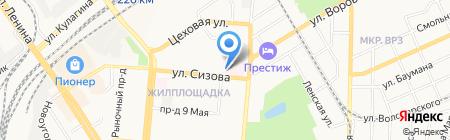 Детская поликлиника на карте Барнаула