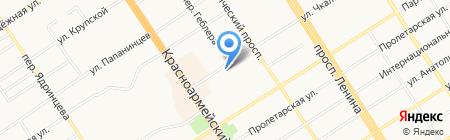 Швейное предприятие на карте Барнаула
