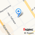 Клевер на карте Барнаула