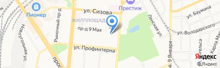 Трейси на карте Барнаула