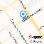 Самсон на карте Барнаула